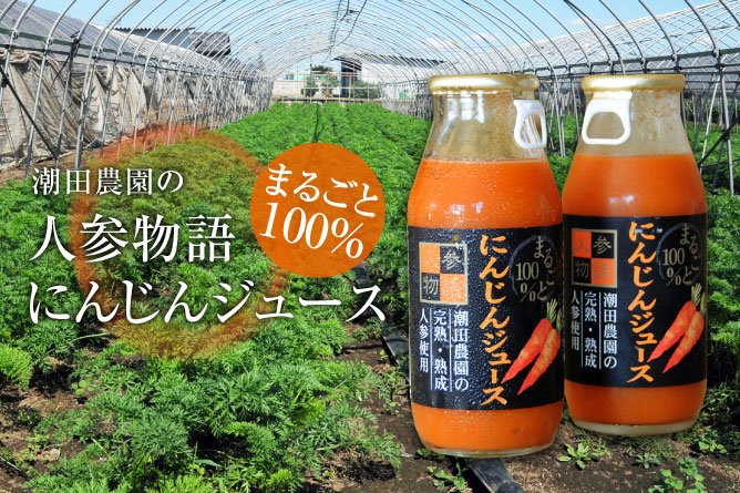 潮田農園 まるごと100%にんじんジュース