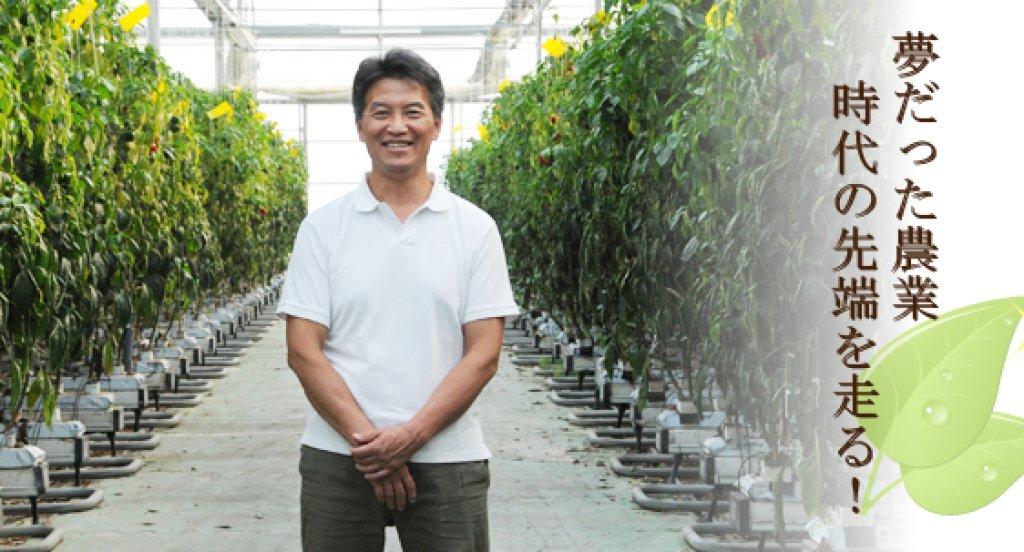 年間約300tのパプリカを生産 林 俊秀さん(水戸市)