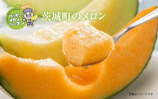 茨城町の【いばらきメロン2色セット】