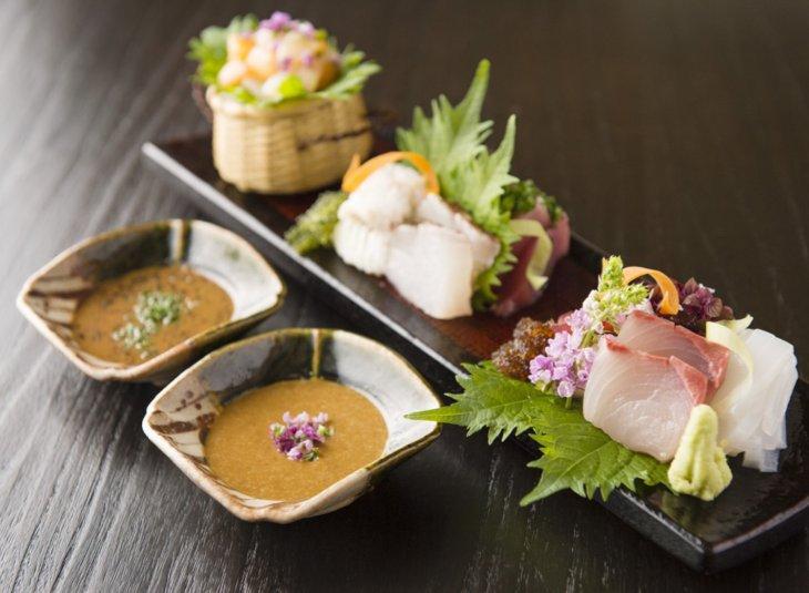 お刺身と万能納豆タレ