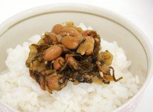 野沢菜水戸納豆調理イメージ