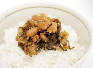 野沢菜水戸納豆ご飯のせイメージ