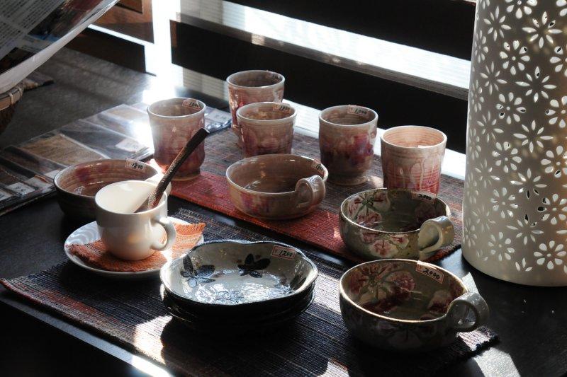 Goenmon 笠間焼展示コーナー