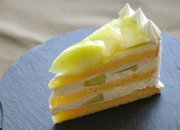 じゅわっと幸せなメロンショートケーキを堪能♪の巻