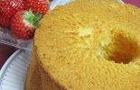 クロレラいちごシフォンケーキ