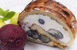 ブルーベリーとクリームチーズのアーモンドロール&ブルーベリーシャーベット