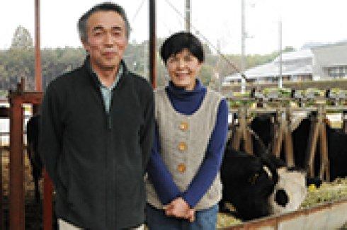 良い土で草を作り、牛を健康に飼う)
