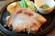 蓮根豚のステーキ