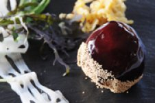 栗のフルコース前菜 フォアグラと栗のマルブル